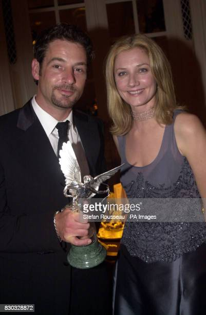 Jeremy Northam winner of the Best Actor award at the Evening Standard British Film Awards with actress Joely Richardson at the Savoy Hotel London