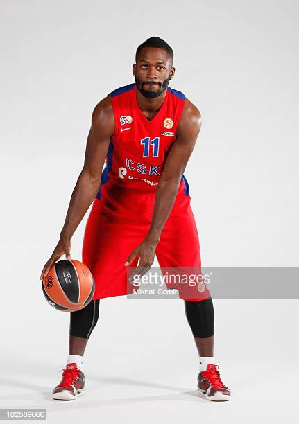 Jeremy Pargo #11 during the CSKA Moscow 2013/14 Turkish Airlines Euroleague Basketball Media day at Universal Sports Hall CSKA on October 1 2013 in...