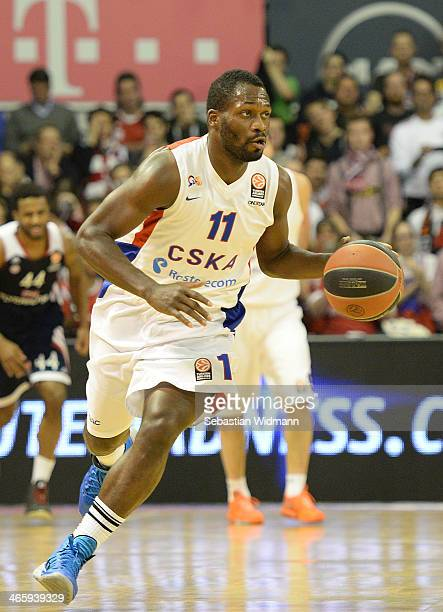 Jeremy Pargo #11 of CSKA Moscow in action during the 20132014 Turkish Airlines Euroleague Top 16 Date 5 game between FC Bayern Munich v CSKA Moscow...