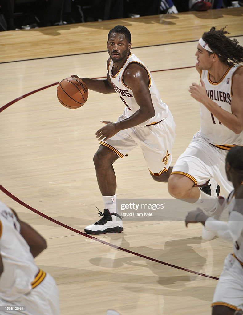 <a gi-track='captionPersonalityLinkClicked' href=/galleries/search?phrase=Jeremy+Pargo&family=editorial&specificpeople=732443 ng-click='$event.stopPropagation()'>Jeremy Pargo</a> #8 of the Cleveland Cavaliers brings the ball down the court against the Philadelphia 76ers at The Quicken Loans Arena on November 21, 2012 in Cleveland, Ohio.