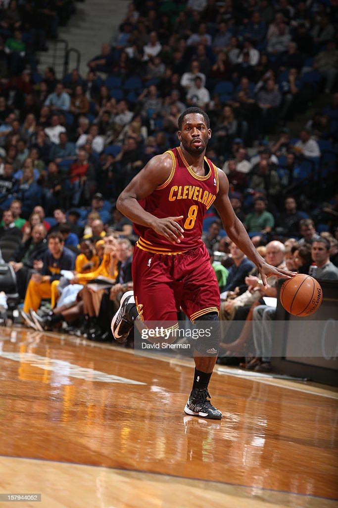 <a gi-track='captionPersonalityLinkClicked' href=/galleries/search?phrase=Jeremy+Pargo&family=editorial&specificpeople=732443 ng-click='$event.stopPropagation()'>Jeremy Pargo</a> #8 of the Cleveland Cavaliers dribbles up the court against the Minnesota Timberwolves during the game on December 7, 2012 at Target Center in Minneapolis, Minnesota.