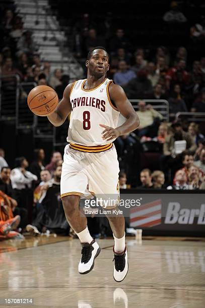 Jeremy Pargo of the Cleveland Cavaliers handles the ball against the Phoenix Suns at The Quicken Loans Arena on November 27 2012 in Cleveland Ohio...