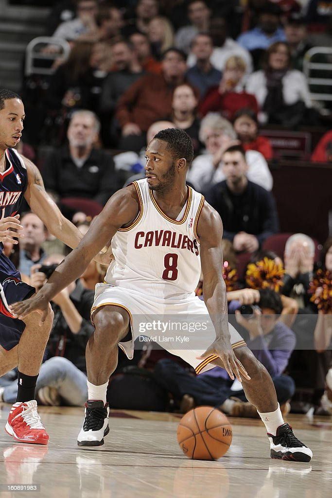 <a gi-track='captionPersonalityLinkClicked' href=/galleries/search?phrase=Jeremy+Pargo&family=editorial&specificpeople=732443 ng-click='$event.stopPropagation()'>Jeremy Pargo</a> #8 of the Cleveland Cavaliers looks to drive to the basket against the Atlanta Hawks at The Quicken Loans Arena on January 9, 2013 in Cleveland, Ohio.