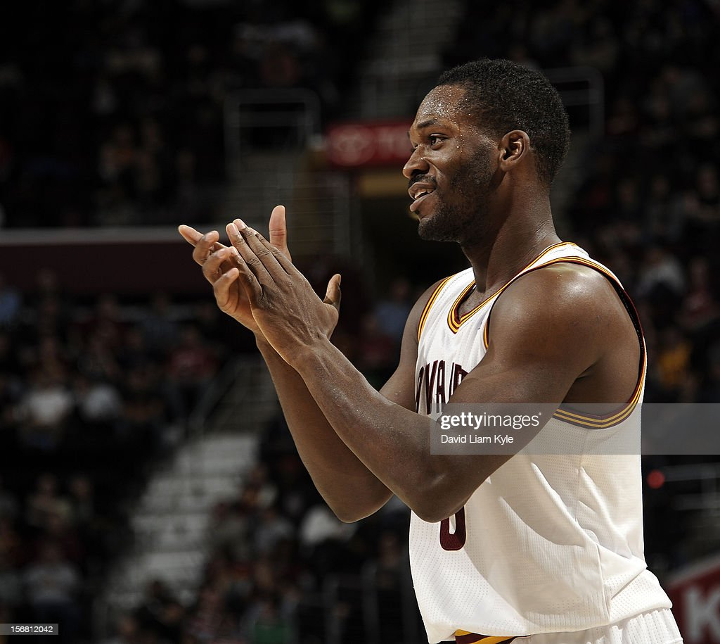 <a gi-track='captionPersonalityLinkClicked' href=/galleries/search?phrase=Jeremy+Pargo&family=editorial&specificpeople=732443 ng-click='$event.stopPropagation()'>Jeremy Pargo</a> #8 of the Cleveland Cavaliers reacts after sinking a three pointer in the closing minutes of their win over the Philadelphia 76ers at The Quicken Loans Arena on November 21, 2012 in Cleveland, Ohio.