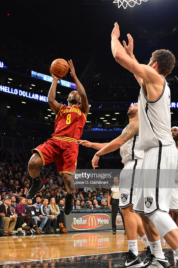 <a gi-track='captionPersonalityLinkClicked' href=/galleries/search?phrase=Jeremy+Pargo&family=editorial&specificpeople=732443 ng-click='$event.stopPropagation()'>Jeremy Pargo</a> #8 of the Cleveland Cavaliers shoots against the Brooklyn Nets at the Barclays Center on December 29, 2012 in Brooklyn, New York.