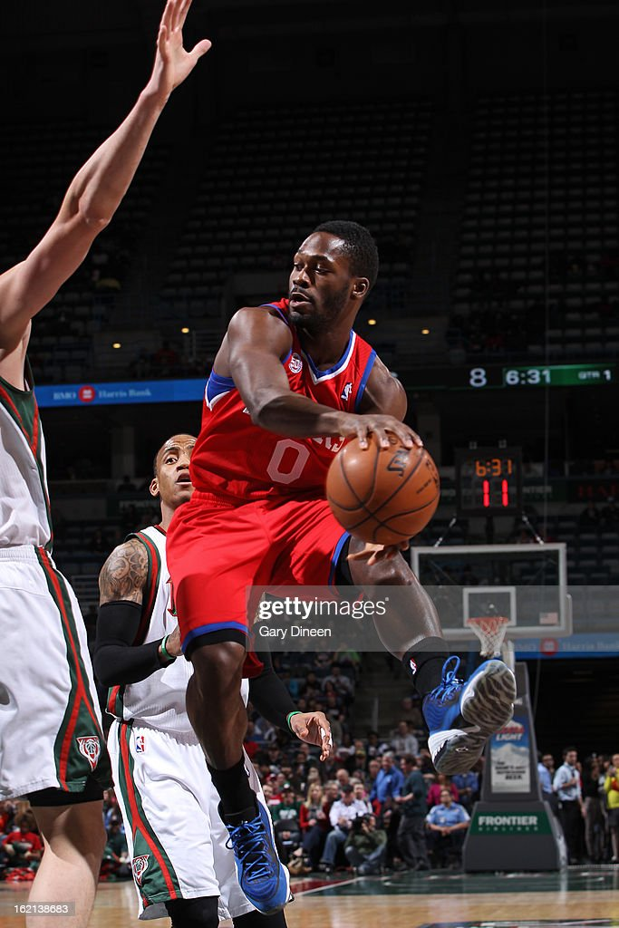Jeremy Pargo #0 of the Philadelphia 76ers handles the ball against the Milwaukee Bucks on February 13, 2013 at the BMO Harris Bradley Center in Milwaukee, Wisconsin.