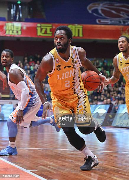 Jeremy Pargo of Zhejiang Lions drives the ball during the Chinese Basketball Association 15/16 season playoff quarterfinal match between Sichuan Blue...