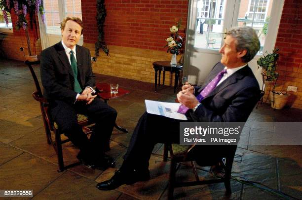 Jeremy Paxman interviews Conservative leadership contenter David Cameron at Whittlebury Hall Northampton Thursday November 17 2005 The interview will...