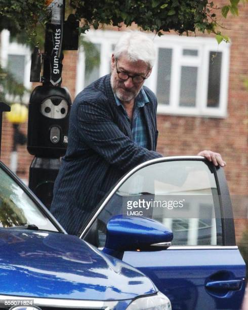 Jeremy Paxman seen having coffee with a friend in Westbourne Grove on September 28 2017 in London England