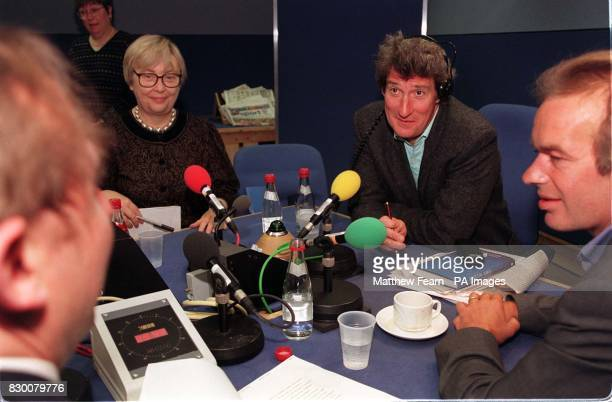 Jeremy Paxman talks to guests Dr Marilyn Butler Andrew Wilson and Martin Amis during Radio 4's 'Start The Week' programme in London this morning...