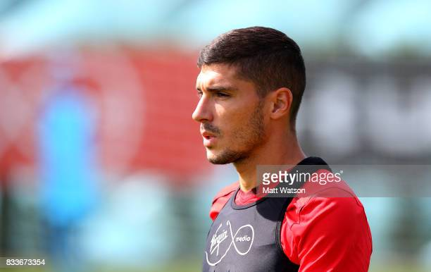 Jeremy Pied during a Southampton FC training session at the Staplewood Campus on August 17 2017 in Southampton England