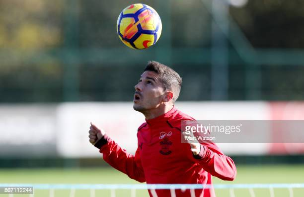 Jeremy Pied during a Southampton FC training session at the Staplewood Campus on October 27 2017 in Southampton England