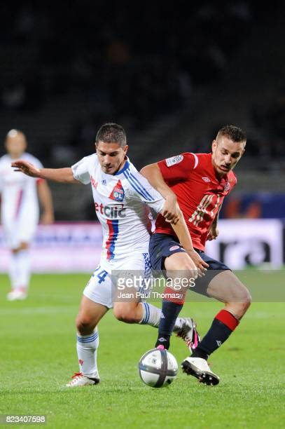 Jeremy PIED / Mathieu DEBUCHY Lyon / Lille 9eme journee de Ligue 1