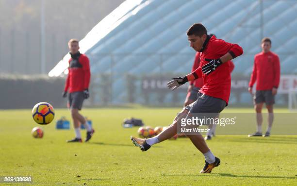 Jeremy Pied of Southampton during a Southampton FC training session at the Staplewood Campus on November 2 2017 in Southampton England