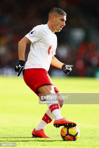 Jeremy Pied of Southampton during the Premier League match between AFC Bournemouth and Southampton at Vitality Stadium on December 3 2017 in...