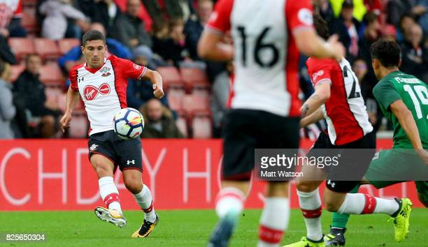 Jeremy Pied of Southampton during the preseason friendly between Southampton FC and Augsburg at St Mary's Stadium on August 2 2017 in Southampton...