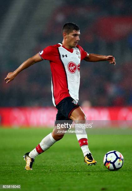 Jeremy Pied of Southampton in action during the PreSeason Friendly match between Southampton and FC Augsburg at St Mary's Stadium on August 2 2017 in...