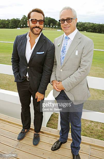 Jeremy Piven and Audi UK Head of PR Jon Zammett attend day 2 of the Audi Polo Challenge at Coworth Park Polo Club on August 4 2013 in Ascot England