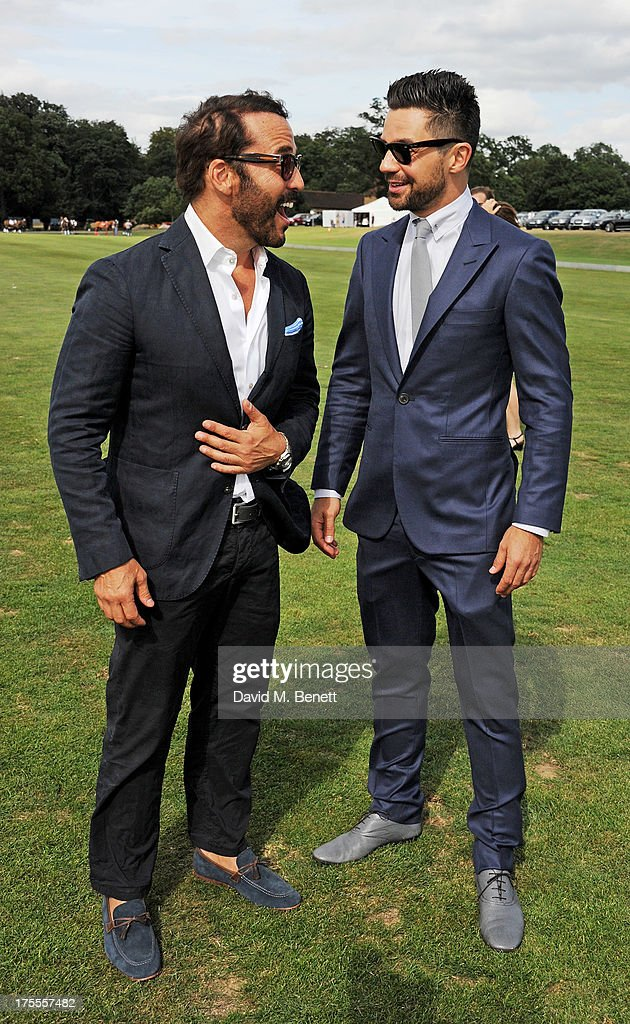 Jeremy Piven (L) and Dominic Cooper attend day 2 of the Audi Polo Challenge at Coworth Park Polo Club on August 4, 2013 in Ascot, England.
