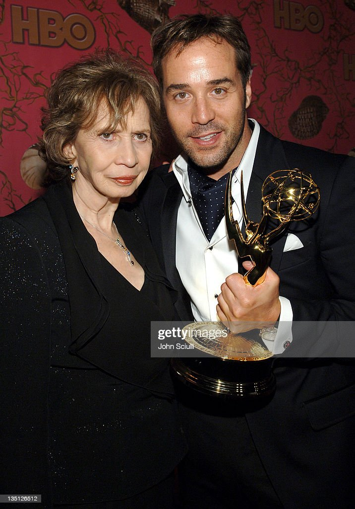 Jeremy Piven and his mother during 58th Annual Primetime Emmy Awards - HBO After Party - Red Carpet and Inside at Pacific Design Center in West Hollywood, California, United States.