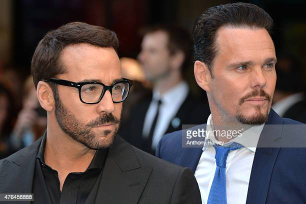 Jeremy Piven and Kevin Dillon attend the European Premiere of 'Entourage' at Vue West End on June 9 2015 in London England