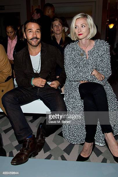 Jeremy Piven and Portia Freeman attends Pringle of Scotland SS15 show during London Fashion Week at Claridges Hotel on September 14 2014 in London...