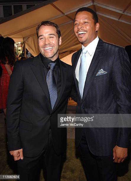 Jeremy Piven and Terrence Howard during 2006 CFDA Awards Red Carpet at New York Public Library in New York City New York United States