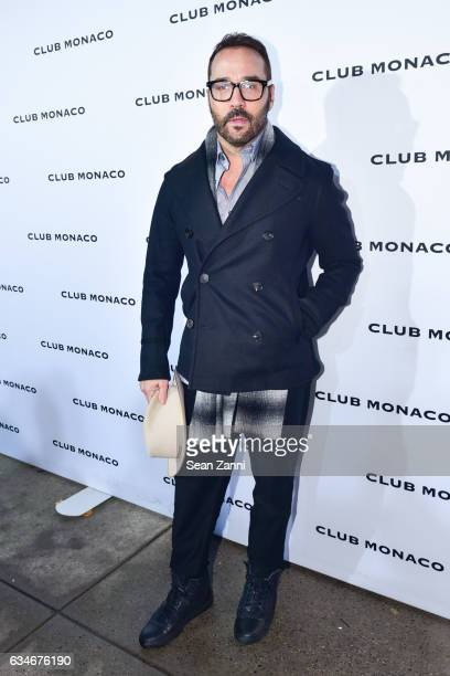 Jeremy Piven arrives at the Club Monaco show during New York Fashion Week at Club Monaco Fifth Avenue on February 10 2017 in New York City