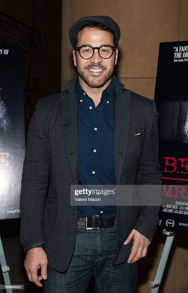 Jeremy Piven arrives at the screening of SnagFilms' 'Beware of Mr Baker' at the Egyptian Theatre on January 23 2013 in Hollywood California