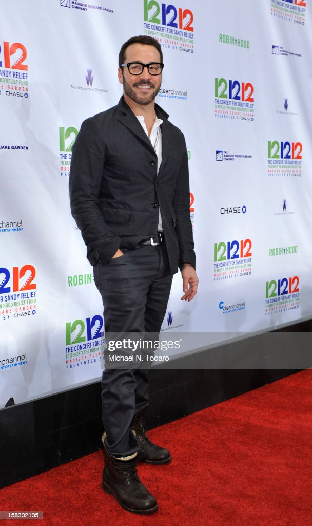 Jeremy Piven attends 12-12-12 the Concert for Sandy Relief at Madison Square Garden on December 12, 2012 in New York City.