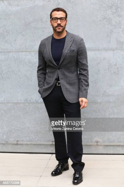 Jeremy Piven attends the Giorgio Armani Show as part of Milan Fashion Week Womenswear Spring/Summer 2015 on September 20 2014 in Milan Italy