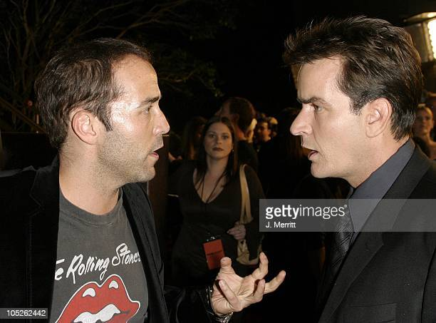 Jeremy Piven Charlie Sheen during 'Scary Movie 3' Los Angeles Premiere at AMC Theatres Avco Cinema in Westwood California United States