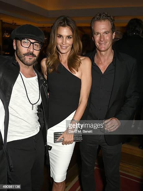 Jeremy Piven Cindy Crawford and Rande Gerber attend the London launch of Casamigos Tequila and Cindy Crawford's book 'Becoming' hosted by Rande...