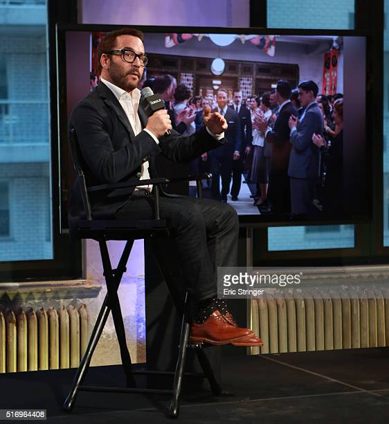 Jeremy Piven discusses his work on the series 'Mr Selfridge' at AOL Studios In New York on March 22 2016 in New York City