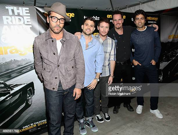 Jeremy Piven Jeremy Ferrara Kevin Connolly Kevin Dillon and Adrian Grenier attend Tumblr FUCK YEAH Party Sponsored By Entourage At SXSW on March 16...