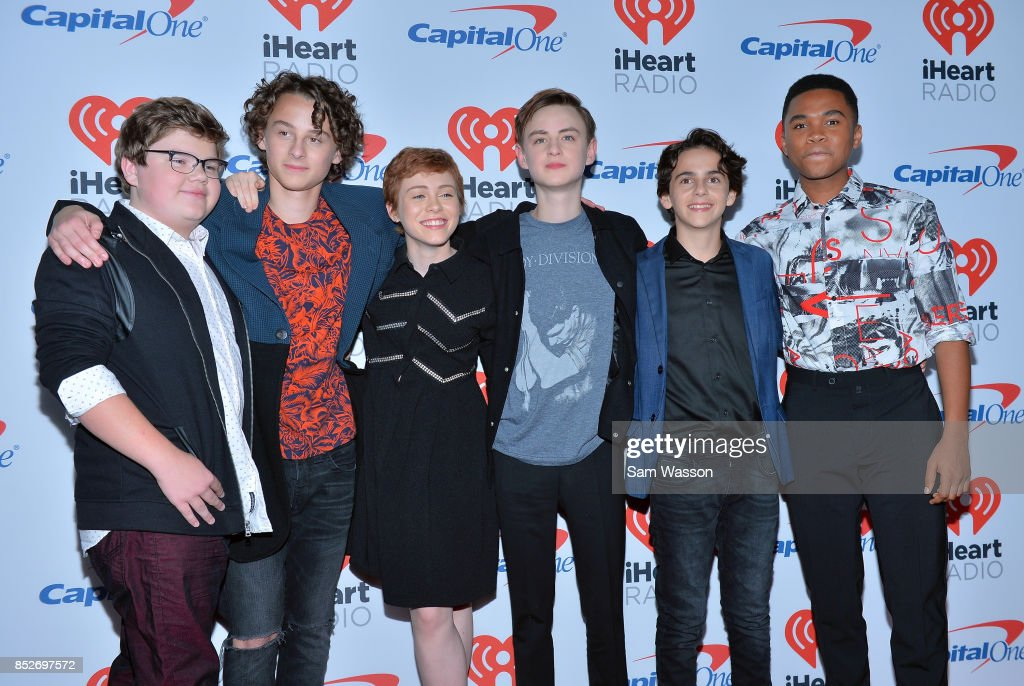 Jeremy Ray Taylor, Wyatt Oleff, Sophia Lillis, Jaeden Lieberher, Jack Dylan Grazer, and Chosen Jacobs attend the 2017 iHeartRadio Music Festival at T-Mobile Arena on September 23, 2017 in Las Vegas, Nevada.