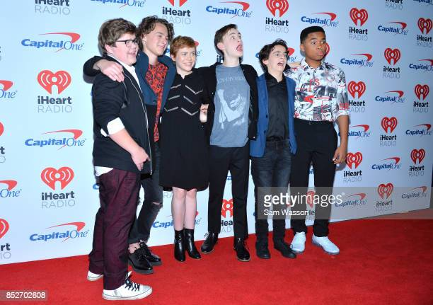 Jeremy Ray Taylor Wyatt Oleff Sophia Lillis Jaeden Lieberher Jack Dylan Grazer and Chosen Jacobs attend the 2017 iHeartRadio Music Festival at...