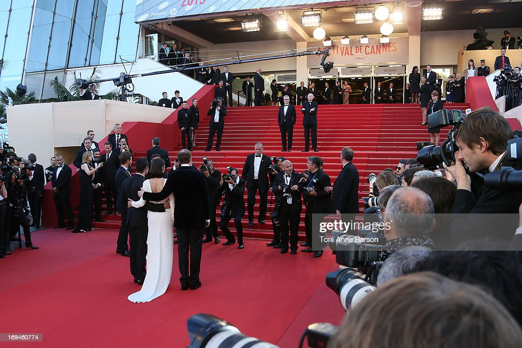 Jeremy Renner, actress Marion Cotillard and director James Gray attend the Premiere of 'The Immigrant' at The 66th Annual Cannes Film Festival at Palais des Festivals on May 24, 2013 in Cannes, France.