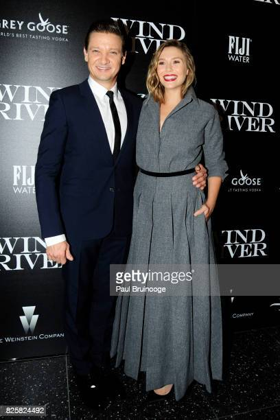 Jeremy Renner and Elizabeth Olsen attend The Weinstein Company with FIJI Grey Goose Lexus and NetJets host a screening of 'Wind River' at The Museum...