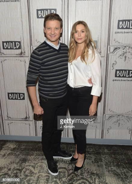 Jeremy Renner and Elizabeth Olsen visit Build Series at Build Studio on August 2 2017 in New York City