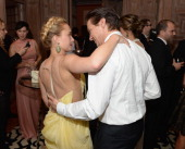 Jeremy Renner and Hayden Panettiere attend the Bloomberg Vanity Fair cocktail reception following the 2013 WHCA Dinner at the residence of the French...