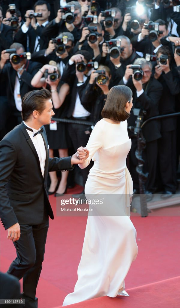 Jeremy Renner and Marion Cotillard attend 'The Immigrant' Premiere during the 66th Annual Cannes Film Festival at Grand Theatre Lumiere on May 24, 2013 in Cannes, France.