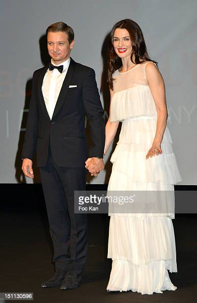 Jeremy Renner and Rachel Weisz attend 'The Bourne Legacy' Premiere 38th Deauville American Film Festival at CID on September 1 Deauville France