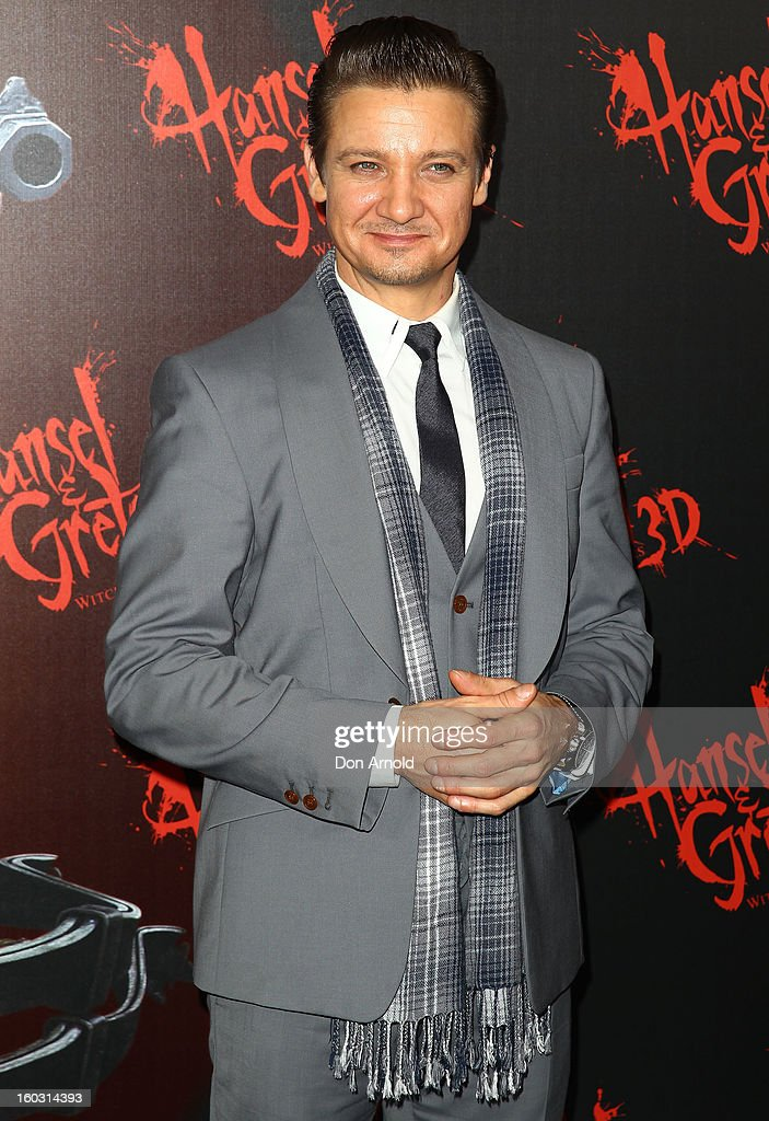 Jeremy Renner arrives at the Australian Premiere of 'Hansel & Gretel Witch Hunters' at Event Cinemas on January 29, 2013 in Sydney, Australia.