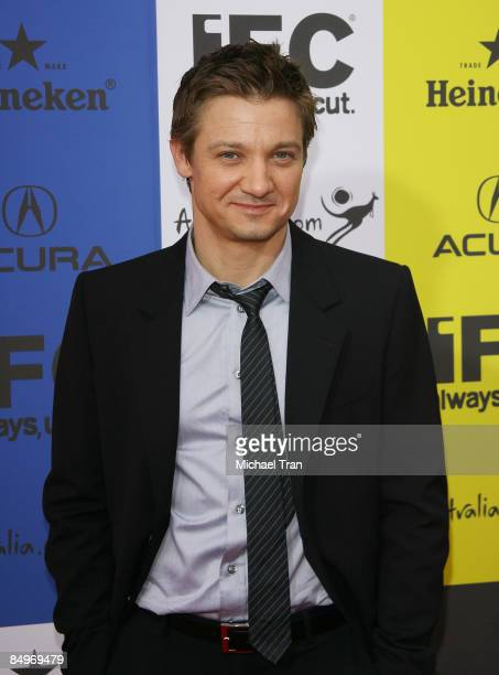 Jeremy Renner arrives to IFC's 9th Annual Indie Film celebration held at Shutters on the Beach on February 21 2009 in Santa Monica California