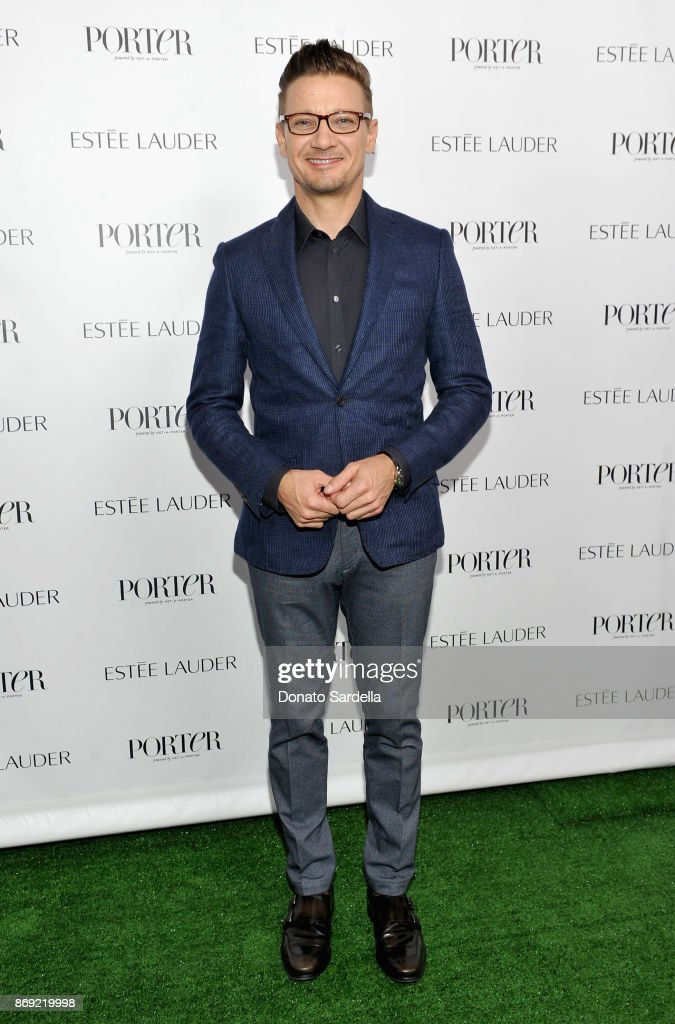 Jeremy Renner at PORTER Hosts Incredible Women Gala In Association With Estee Lauder at NeueHouse Los Angeles on November 1, 2017 in Hollywood, California.