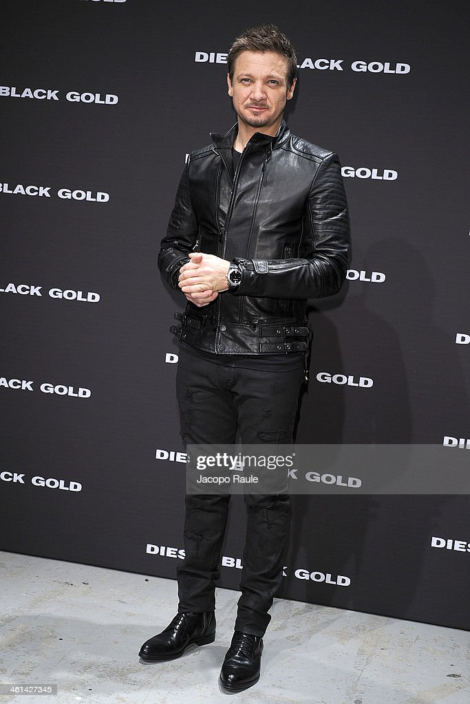 <a gi-track='captionPersonalityLinkClicked' href=/galleries/search?phrase=Jeremy+Renner&family=editorial&specificpeople=708701 ng-click='$event.stopPropagation()'>Jeremy Renner</a> attends Diesel Black Gold fashion show during Pitti Immagine Uomo 85 on January 8, 2014 in Florence, Italy.
