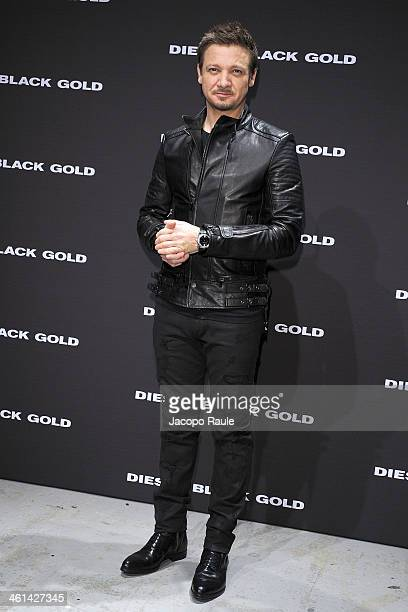 Jeremy Renner attends Diesel Black Gold fashion show during Pitti Immagine Uomo 85 on January 8 2014 in Florence Italy
