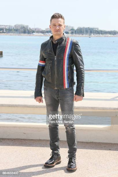 Jeremy Renner attends 'Knightfall' photocall during MIPTV 2017 on April 4 2017 in Cannes France