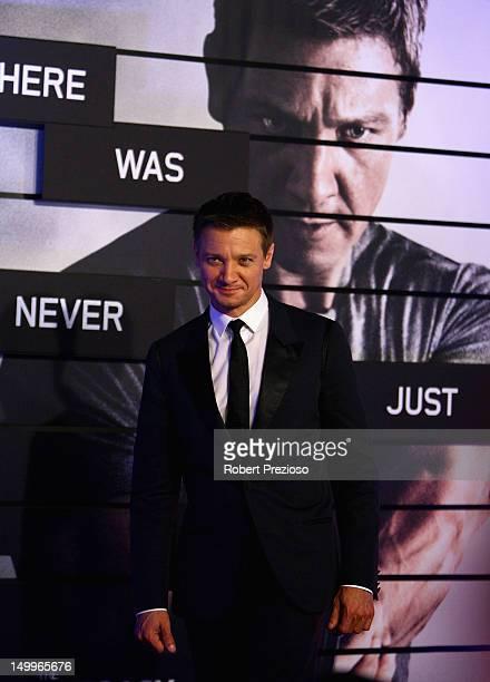 Jeremy Renner attends 'The Bourne Legacy' Melbourne premiere at Village Cinemas Crown Melbourne on August 8 2012 in Melbourne Australia